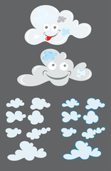 Cloud cartoon, art vector picture