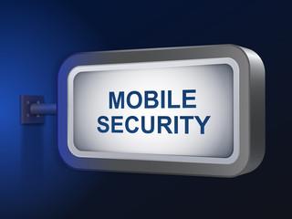 mobile security words on billboard