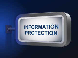 information protection words on billboard