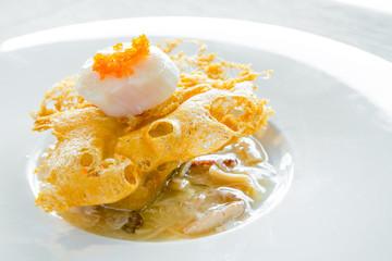 hokkaido scallop with crab sauce