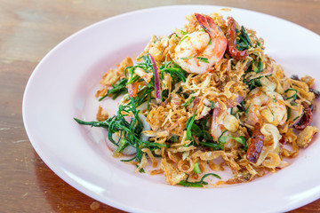 Thai spicy seafood salad