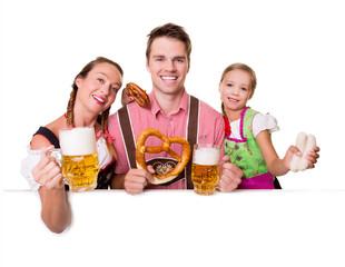 Bayerische Familie Oktoberfest