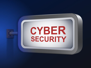 cyber security words on billboard