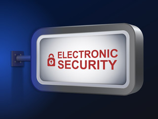 electronic security words on billboard