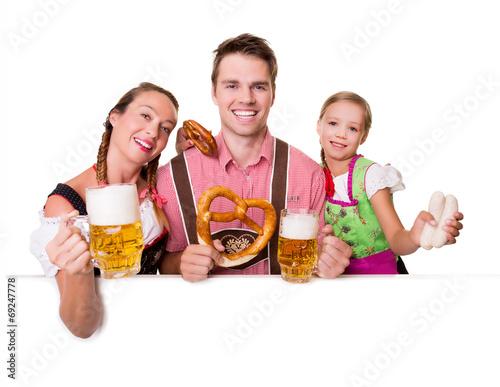 canvas print picture Bayerische Familie Oktoberfest