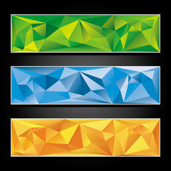 Set of colorful abstract banners.