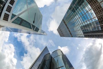 Modern office buildings Hong Kong