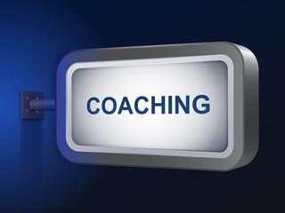 coaching word on billboard