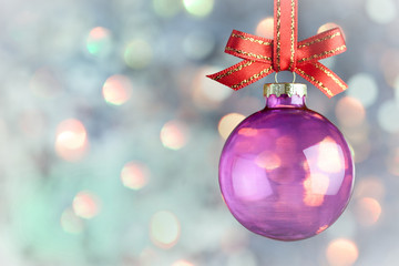 Christmas Decoration - Magic bokeh bauble background