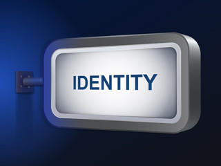 identity word on billboard