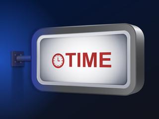 time word on billboard
