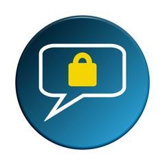 Button rund: Geschützte Kommunikation