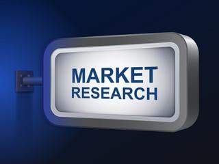 market research words on billboard