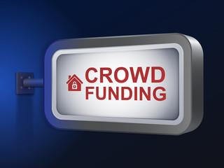 crowd funding words on billboard