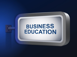 business education words on billboard