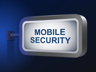mobile security words on billboard