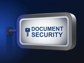 document security words on billboard