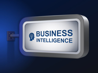 business intelligence words on billboard