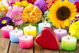 Herz und Kerzen