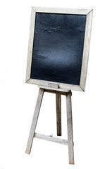 OLd Blank art board, wooden easel, side view