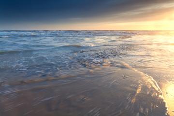 North sea coast at sunset
