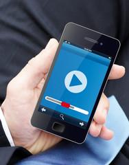 Videoplayer auf dem Smartphone