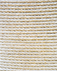 texture of the rows of packing twine