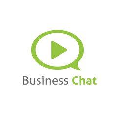 Business chat message logo vector template
