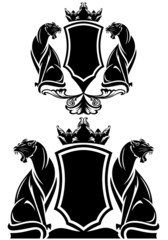black panther coat of arms emblem