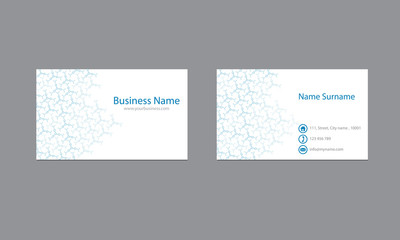 Science Business cards  Design Vector Template