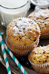 Gluten free almond and oat muffins