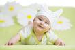cute baby girl weared hat