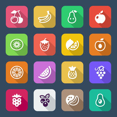 flat fruits iconset