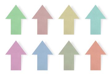 Colored paper arrows