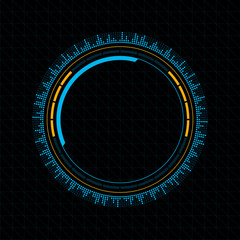 Graphic User Interface HUD. Futuristic infographics dashboard