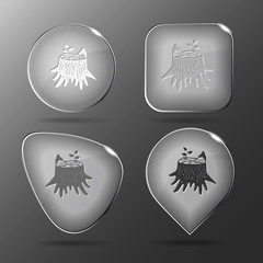 Stub. Glass buttons. Vector illustration.