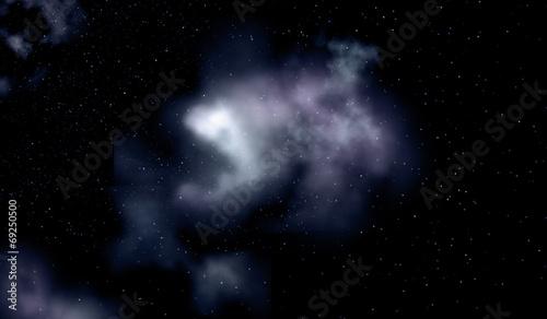 Leinwandbild Motiv Night sky