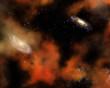 Leinwandbild Motiv Space sky backgound
