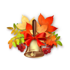 Autumn Vector Fall Leaves and Bell