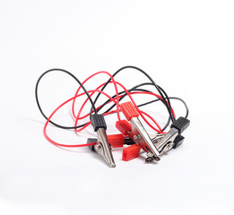 electric clamps with wires red and black