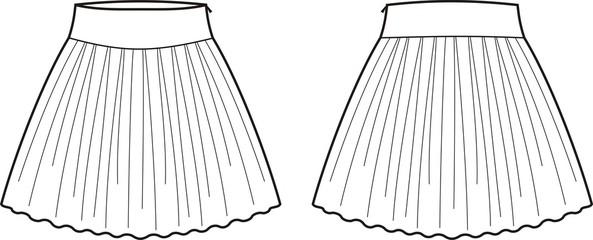 Vector illustration of skirt