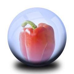 Légume dans bulle : Poivron