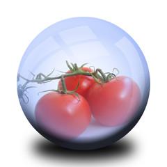 Légume dans bulle : Tomate