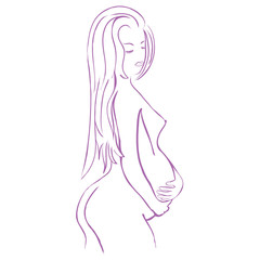 Logo pregnancy and beauty