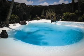 Interior swimming pool in Los Jameos del agua, Lanzarote Island