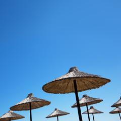 Beach umbrella on a sunny day
