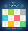 Calendar 2015 with Hipster design elements - 69251951