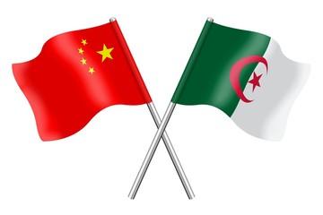 Flags: China and Algeria