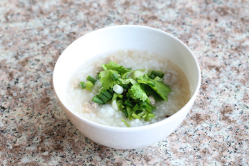 rice soup of Thai foods.