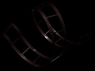 Filmstrip on black background